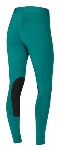 Kerrits Flow Rise Performance Riding Tights - emerald - back