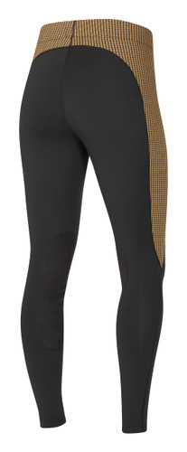 Kerrits Flow Rise Performance Riding Tights - amber houndstooth - back