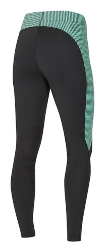 Kerrits Flow Rise Performance Riding Tights - spearmint houndstooth - back