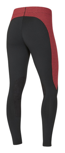 Kerrits Flow Rise Performance Riding Tights - poppy houndstooth - back