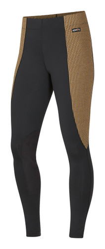 Kerrits Flow Rise Performance Riding Tights - amber houndstooth
