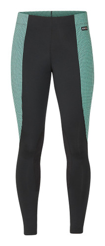 Kerrits Flow Rise Performance Riding Tights - spearmint houndstooth
