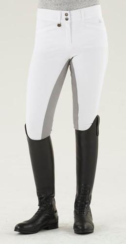 Ovation Celebrity Slim Secret EuroWeave DX Front Zip Full Seat Breeches - white