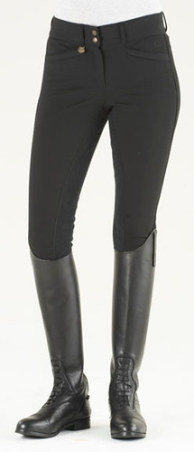 Ovation Celebrity Slim Secret EuroWeave DX Front Zip Full Seat Breeches - black