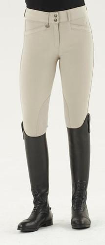 Ovation® Celebrity Slim Secret EuroWeave™ DX Euro Seat Front Zip Breeches - neutral beige