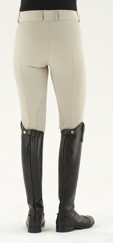 Ovation® Celebrity Slim Secret EuroWeave™ DX Euro Seat Front Zip Breeches - neutral beige - back