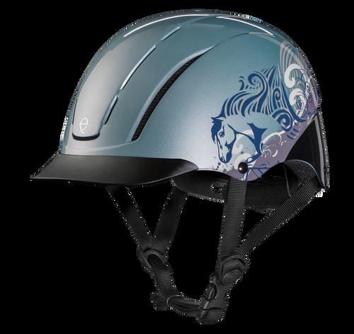 Troxel Spirit Graphic Riding Helmet - sky dreamscape