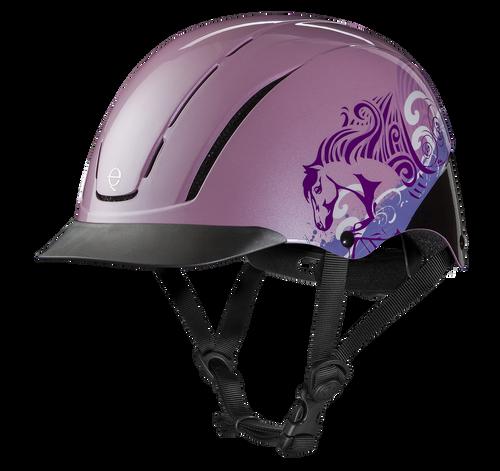 Troxel Spirit Graphic Riding Helmet - pink dreamscape