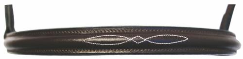 HDR Advantage Fancy Raised Snaffle Bridle - noseband - havana