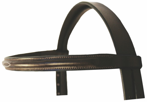 HDR Advantage Fancy Raised Snaffle Bridle - browband - havana