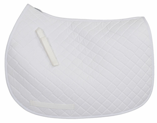 TuffRider Basic Dressage Saddle Pad - white