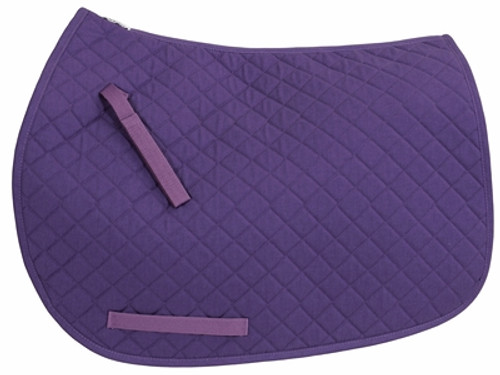 TuffRider Basic Dressage Saddle Pad - purple