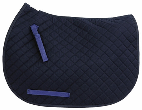 TuffRider Basic Dressage Saddle Pad - navy
