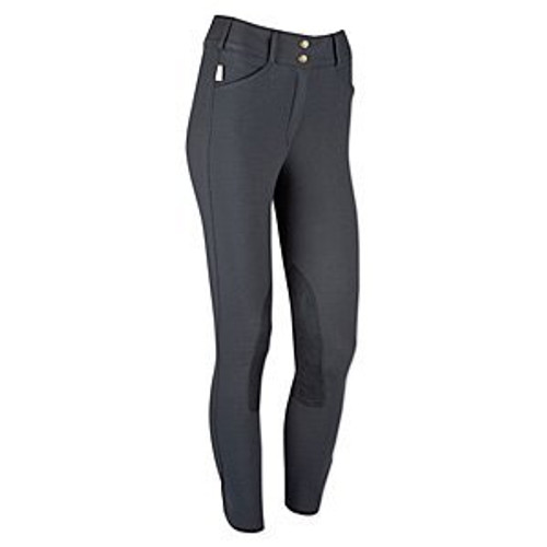 Tailored Sportsman Trophy Hunter Mid Rise Front Zip Breeches - charcoal