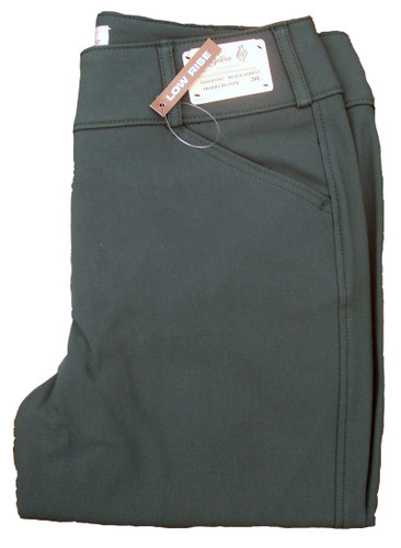 Tailored Sportsman Trophy Hunter Mid Rise Front Zip Breeches - black forest