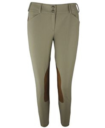 Tailored Sportsman Trophy Hunter Mid Rise Front Zip Breeches - tan