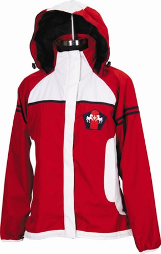 Equine Couture Regatta Rain Jacket - red w/white