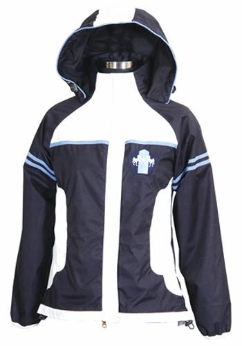 Equine Couture Regatta Rain Jacket - navy w/silverlake blue