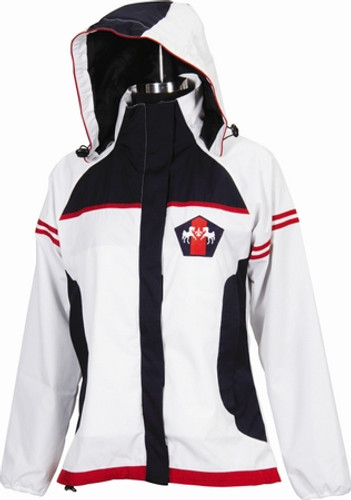 Equine Couture Regatta Rain Jacket - white w/navy