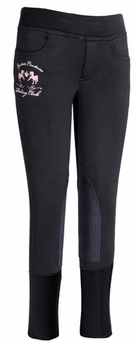 Equine Couture Riding Club Pull On Winter Breeches - black