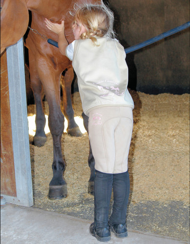 Equine Couture Riding Club Pull On Winter Breeches on model
