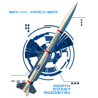 North Coast Rocketry Flying Model Rocket Kit SA-14 Archer  NCR 03
