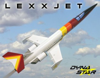 Dynastar Flying Model Rocket Kit LexxJet  DYN 5037