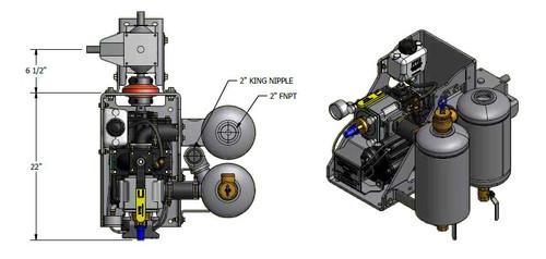 Challenger 304 Right Hand Combination Moisture Trap/Muffler