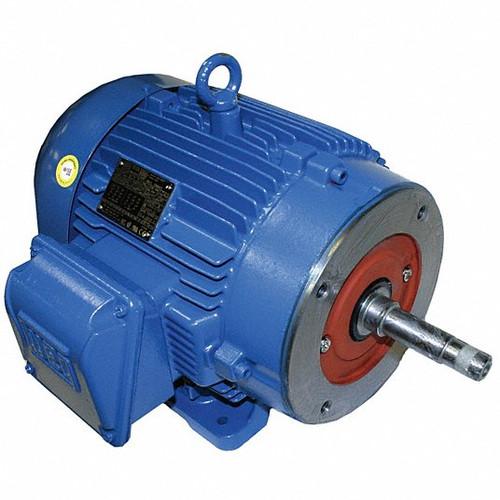 Close-Coupled Pump Motor, 1 1/2 HP, 3-Phase, Nameplate RPM 3,480, 143JM Frame