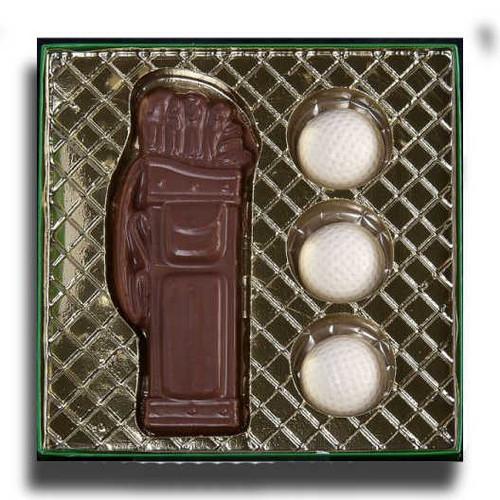 Chocolate Golf Bag & Balls