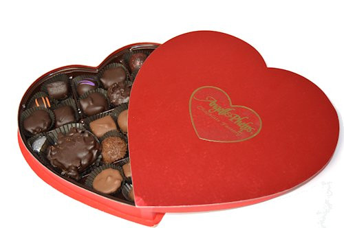 1 LB Heart Box