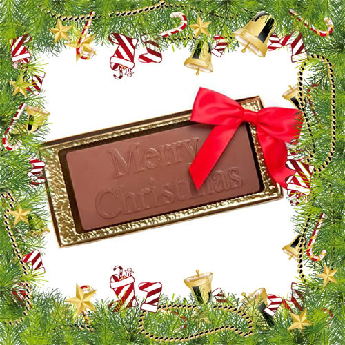 """Merry Christmas"" Chocolate Bar"