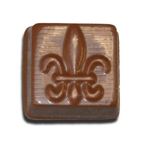 Chocolate Fleur De Lis