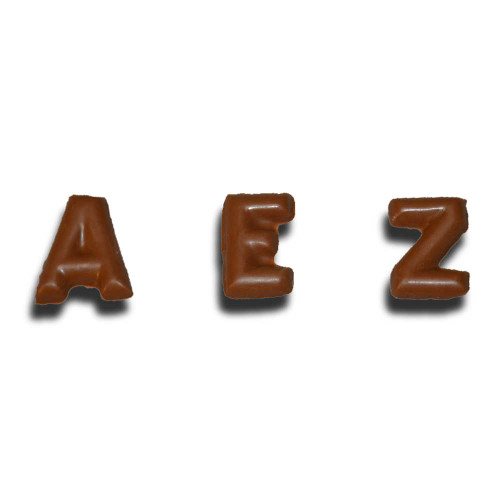 Chocolate Alphabet Letters