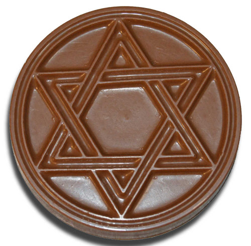 Chocolate Star Of David Disc