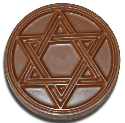 Chocolate Star Of David Disc