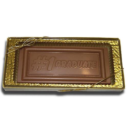 Large #1 Graduate Chocolate bar