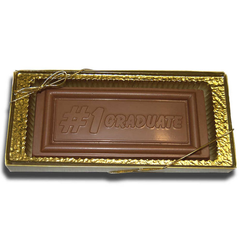 Large #1 Graduate Chocolate bar