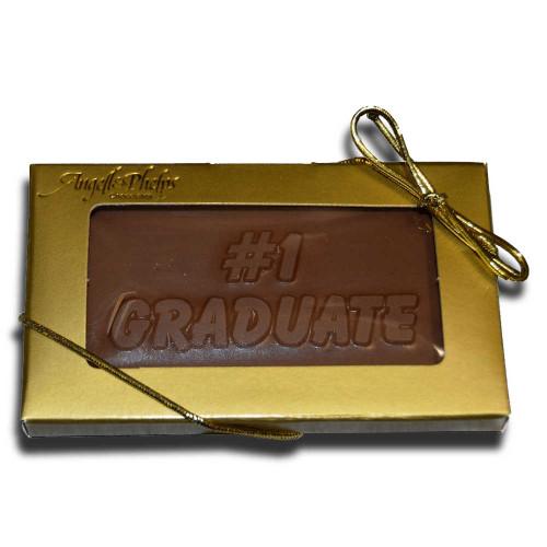 Small #1 Graduate Chocolate Bar