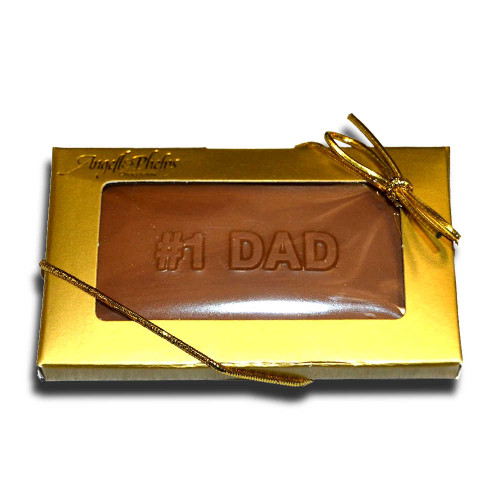 Small #1 Dad Chocolate Bar