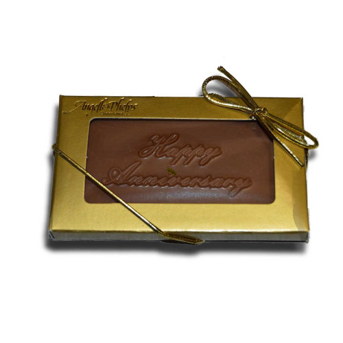 Small Happy Anniversary Chocolate Bar