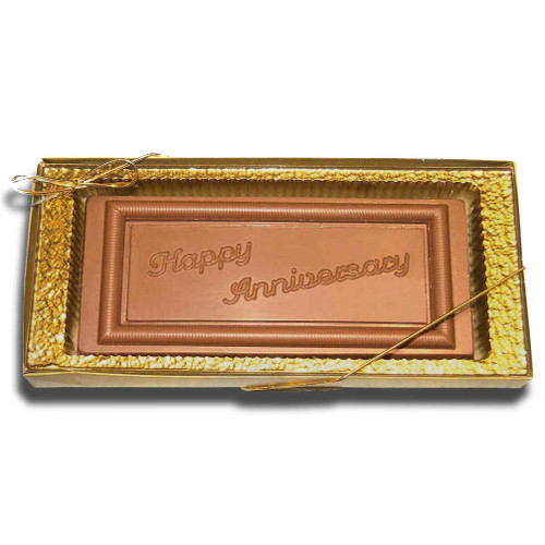 Large Happy Anniversary Chocolate Bar