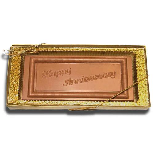 Large Happy Anniversary Chocolate Bar