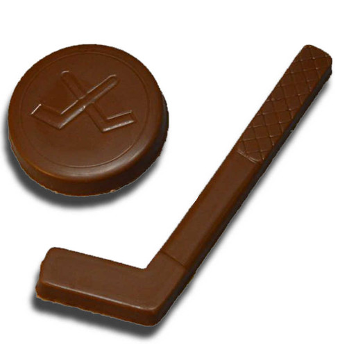 Chocolate Hockey Puck and Stick