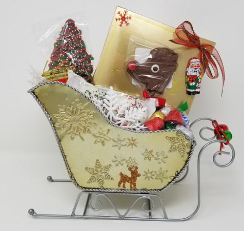 Santa's Sleigh Basket