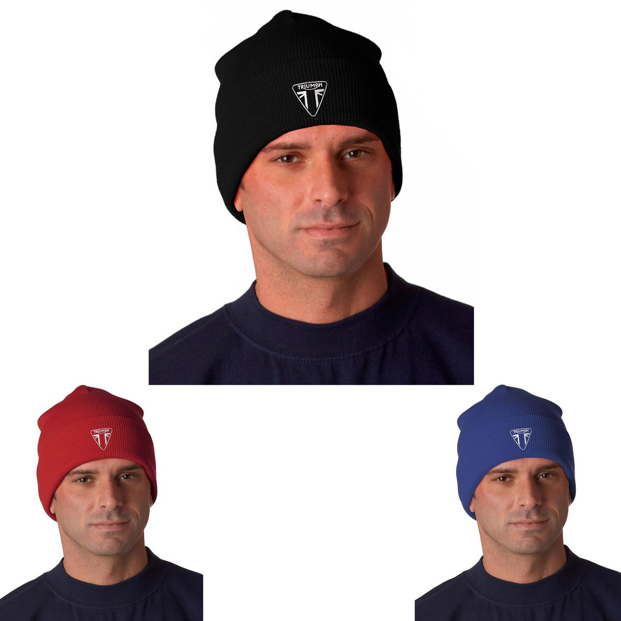 0ccfea9f7 Triumph Motorcycle Logo Ver 1 Embroidered Knit Hat Beanie Cap