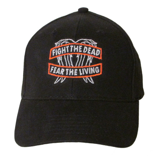 "The Walking Dead ""Fight the Dead - Fear the Living"" Embroidered Baseball Hat - Cap (Daryl Dixon - Wings)"