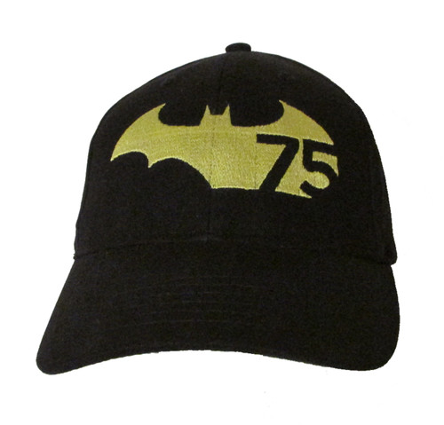 Batman 75th Anniversary Logo - Embroidered Baseball Hat - Cap