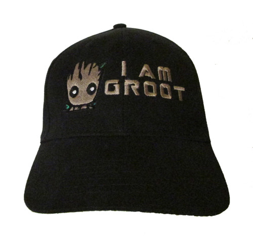 """Guardians of the Galaxy """"I am Groot"""" Embroidered Baseball Hat - Cap (Vin Diesel)"""