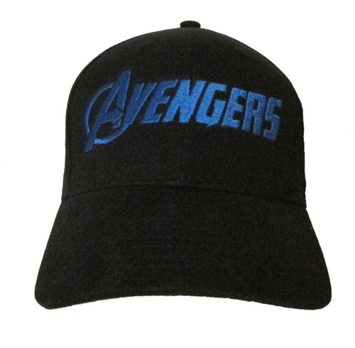 Avengers Movie Comic Logo #2 in BLUE Embroidered Baseball Hat - Cap (Infinity War)